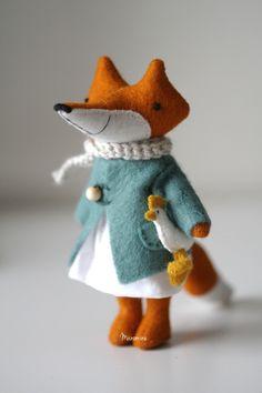 Image of Smal fox Laia Felt Fabric, Fabric Dolls, Fox Toys, Handmade Stuffed Animals, Stuffed Animal Patterns, Felt Art, Felt Animals, Handmade Toys, Doll Patterns