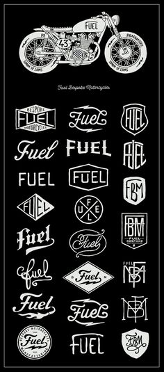Fuel Motorcycles - New logo by BMD Design , via Behance