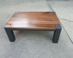 ******Local Pickup/Delivery Only in the Greater Atlanta Area****** Solid walnut top with 4 inch steel legs. 28 wide x 42 long x 18 high Steel Coffee Table, Walnut Coffee Table, Diy Coffee Table, Steel Table, Coffee Table Design, Wood Table, Industrial Coffee Tables, Coffee Coffee, Welded Furniture