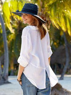Brea белая рубашка - топы - женщины - Gorsuch