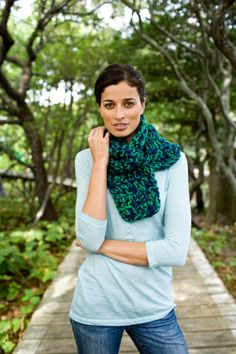 """Tweed Scarf using two skeins as one - Would make a great """"Team"""" Scarf"""