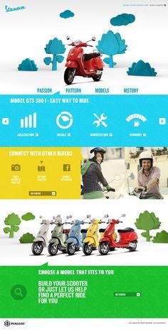 Cool Web Design, Vespa. #webdesign #webdevelopment [http://www.pinterest.com/alfredchong/]