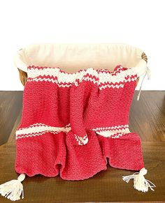 Candy Cane Baby Blanket Crochet PATTERN Holiday Baby Blanket   Etsy