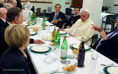 """POPE Francis Warns ANY """"Personal Relationship with Jesus is Dangerous""""who is sitting with this man?!"""
