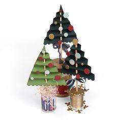 Accordion Fold Christmas Trees-Sizzix