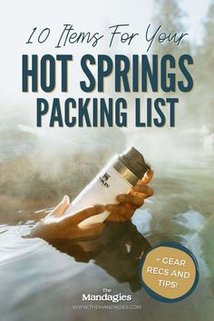 What should you pack for a hot spring? Discover the essentials to put on your hot springs packing list, for a responsible and ethical soak! We're sharing everything from the basic towel and swimsuit, and even more gear for camping and trail hiking to the pools! #hotsprings #trail #camping #packinglist #hotspring #idaho #lolopass Hot Springs, Food Jar, Packing, West Coast, No Response, Essentials, Pacific Northwest, Idaho, Drinkware