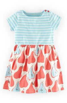 """Free shipping and returns on Mini Boden 'Hotchpotch' Jersey Dress (Toddler Girls, Little Girls & Big Girls) at Nordstrom.com. <p><B STYLE=""""COLOR:#990000"""">Pre-order this style today! Add to Shopping Bag to view approximate ship date. You'll be charged only when your item ships.</b></p><br>A vivacious mixed print steals the scene on a sunny short-sleeve dress that flaunts a classic silhouette."""