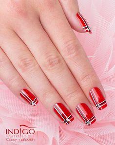 Classy Nail Polish by Paulina Walaszczyk Indigo Educator Łódź! #classy #red #rednails #nails #nail #nailpolish #polish