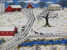 Country Christmas Tree by Jeffrey Koss