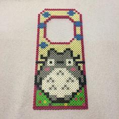 Totoro door hanger perler beads by Angela - Pattern: https://de.pinterest.com/pin/374291419012878435/