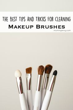 A part of the ultimate spring cleaning series. Regularly clean your makeup brushes to get the best performance out of them and to kill bacteria. Found on mommyenvy.com