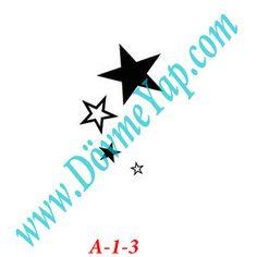 Yıldız Geçici Dövme Şablon Örneği Model No: A-1-3