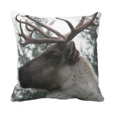Caribou Throw Pillow #animals #nature