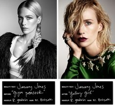 BEAUTY TEST: JANUARY JONES     The actress seamlessly transforms into 6 different characters for a series of before-and-after beauty tests for THE VIOLET FILES