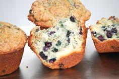 Heerlijke muffins bereidt met verse bosbessen!