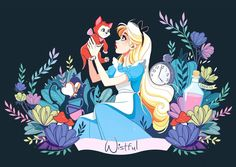 "541 mentions J'aime, 5 commentaires - Wistful (@wistful.art) sur Instagram : ""Alice and Dinah ⭐️ #alice #aliceinwonderland #aliceaupaysdesmerveilles #drawing #disney…"""