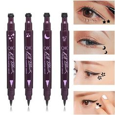 Eyeliner Back To Search Resultsbeauty & Health Strong-Willed Eyeliner Double Head Durable Waterproof Black Wing Seal Eyeliner Eye Makeup Beauty Pencil Tool Maquillage Skilful Manufacture