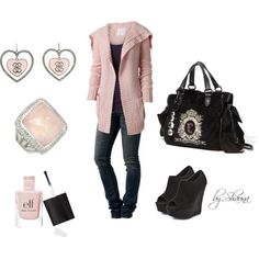 Love this girly casual created by shauna-rogers on Polyvore
