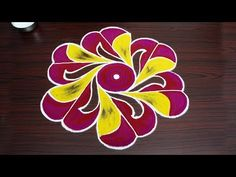 Creative colour rangoli design - Simple kolam designs with dots - new muggulu patterns Free Hand Rangoli Design, Small Rangoli Design, Rangoli Designs Diwali, Rangoli Designs Images, Rangoli Designs With Dots, Kolam Rangoli, Rangoli With Dots, Beautiful Rangoli Designs, Simple Rangoli