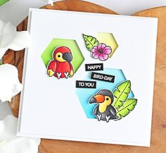 Hello there and welcome to day four of the Clearly Besotted July 2019 Teasers. I am back with one last teaser to share with you before the. Happy Bird Day, Wooden Welcome Signs, Cute Notebooks, White Gel Pen, Shaped Cards, Square Card, Little Critter, Bird Cards, Card Sketches