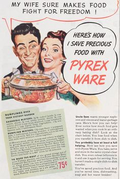 Victory Dumplings recipe from advertisement #Pyrex100