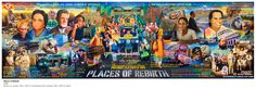 Navin Rawanchaikul, 'Places of Rebirth', acrylic on canvas, x cm. Image courtesy Solomon R. Guggenheim Museum, New York - . Southeast Asian Arts, Minimalist Art, Art Fair, Contemporary Art, Museum, Japanese, Sculpture, Country, Canvas