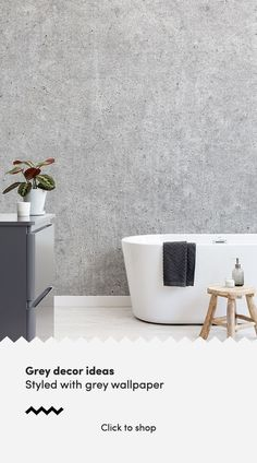 A grey wallpaper mur - January 26 2019 at Powder Room Wallpaper, Wall Wallpaper, Grey Wallpaper In Bathroom, Grey Wallpaper Accent Wall, Office Wallpaper, Accent Walls, Grey Bathrooms, Modern Bathroom, Minimalist Bathroom