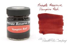 """Private Reserve """"Vampire Red"""" bottled ink (via Goulet Pens).    Can't wait to sink my teeth into a bottle of this..."""