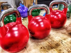 210 pounds of red kettlebell fury