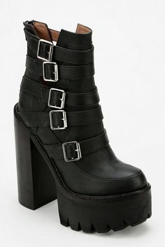 Jeffrey Campbell X Files Treaded Platform Boot #urbanoutfitters these are ridiculously chunky and i love them