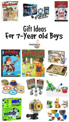 Gifts for Old Boys these are great learning & play gift ideas for 7 year old boys. 7 Year Old Christmas Gifts, Christmas Presents For Boys, Christmas Fun, Gifts For Kids, Birthday Gifts For Boys, Boy Birthday, 8 Year Old Boy, Non Toy Gifts, Boy Gifts
