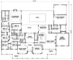 Country Style House Plans  7028 Square Foot Home 1 Story 7 Bedroom and floor plan main is 6900sq ft 10 000 Sq Ft Dream Floor
