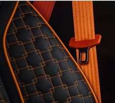 Check out the square stitch pattern sewn on this seat trimmed by Car Interior Upholstery, Automotive Upholstery, Custom Car Interior, Interior Trim, Sewing Leather, Leather Craft, Garniture Automobile, Custom Motorcycle Paint Jobs, Stitch Patterns