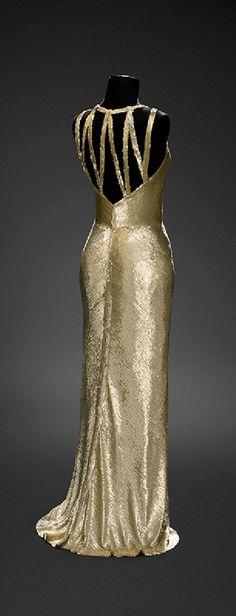 1931 Chanel, Sequin dress - Design by Gabrielle Coco Chanel - Worn by Gloria Swanson - Vintage 1930's Chanel - Musée du Costume et de la Dentelle