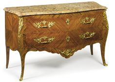 A Louis XV style ormolu-mounted kingwood and tulipwood commode bearing the stamp P. Roussel JME. Sotheby's