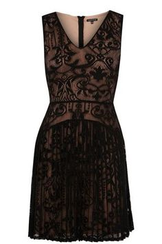 BLACK PLEAT LACE DRESS. As if I need anymore dresses like this