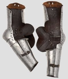 Two very rare North Italian Gothic vambraces circa 1430-40. - Https://darksword-armory.com