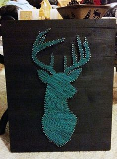 Custom Order for Jessica L.  Stained String Art  by GrizzlyandCo, $55.00