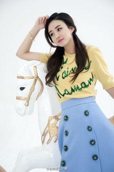 Yang Yang Actor, Zhao Li Ying, Angelababy, Chinese Actress, Bellisima, Cute Girls, High Waisted Skirt, Mini Skirts, Asian