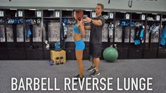 Grab a barbell and learn how to do a proper reverse lunge with TopCat Lindsey. #WorkoutWednesday
