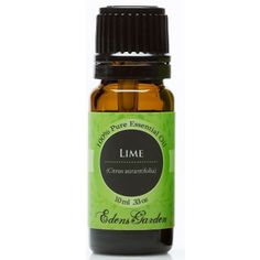 Eden's Garden Lime EO 10 ml I have this and I love it for mixing with baking soda and lavender oil to freshen up shoes, or mixing with lavender and cocoa butter for a relaxation lotion.