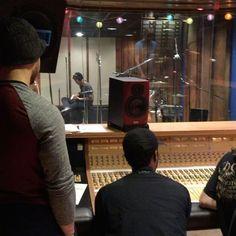 Class recording session in Studio C! #school #omega #studio