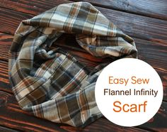 tute for flannel infinity scarf. Could use flannel pants and even try a different pattern on each side. Easy Sewing Projects, Sewing Hacks, Sewing Tutorials, Sewing Crafts, Sewing Patterns, Sewing Ideas, Sewing Tips, Dog Crafts, Etsy Crafts