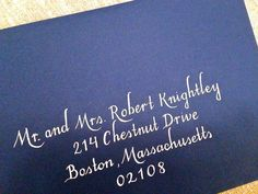 Wedding Envelope Addressing - Custom Hand-written Calligraphy