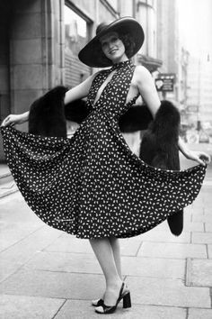 The original street style stars: Marion Cameron in a Christian Dior.