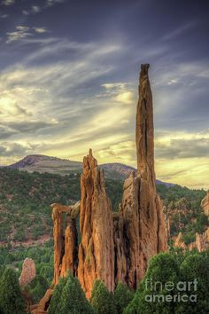 Garden of the Gods is a public park located in Colorado Springs, Colorado, USA. It was designated a National Natural Landmark in 1971.