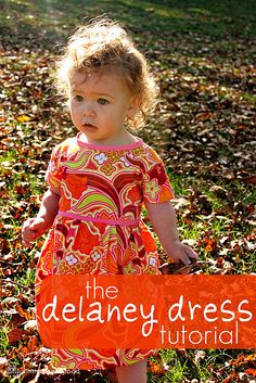 Delaney Dress Tutorial. Includes pattern pieces for a 1-2 year old.