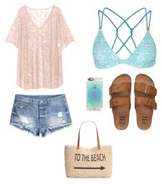 """"""""""" by harpershepherd on Polyvore featuring Topshop, Melissa Odabash, H&M, Billabong, Casetify, Style & Co., women's clothing, women's fashion, women and female"""