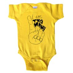 I'm This Many - One Year Old Age Shirt - One Piece Baby Bodysuit - Children's Clothing - Baby and Toddler - Kids Clothes - Baby Boy or Girl