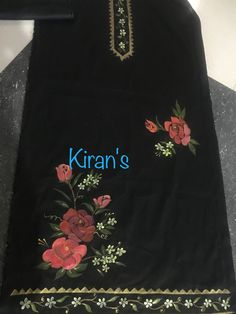 Hand Painted Dress, Hand Painted Fabric, Fabric Paint Shirt, Fabric Painting, Ribbon Embroidery, Embroidery Patterns, Fabric Paint Designs, Kurta Designs Women, Art Studios